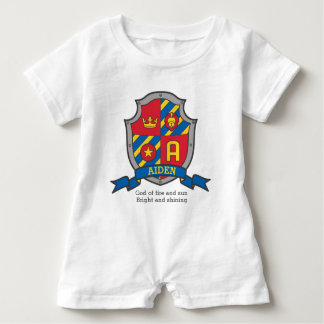 Aiden boys name & meaning knights shield baby bodysuit