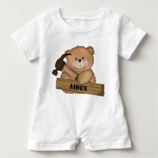 Aiden's Builder Bear Personalized Gifts Baby Bodysuit