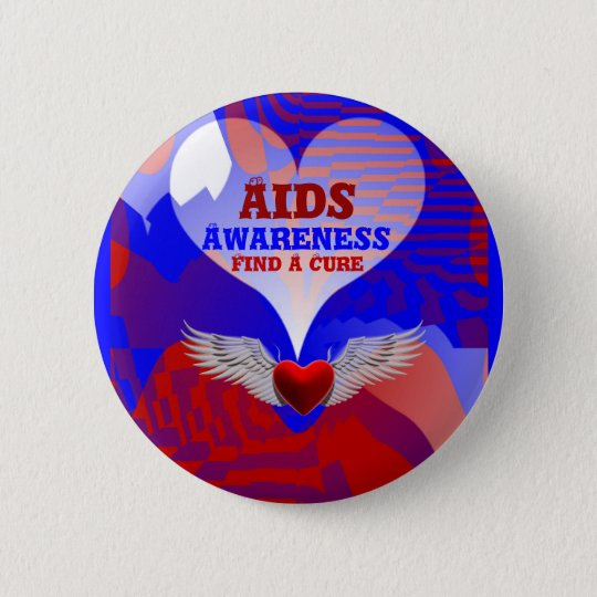 AIDS Awareness,Find A Cure_Button 6 Cm Round Badge