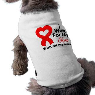 AIDS Awareness I Walk For My Hero Sleeveless Dog Shirt