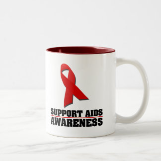 AIDS Awareness Two-Tone Mug