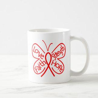 AIDS Butterfly Inspiring Words Basic White Mug
