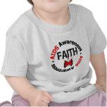 AIDS Faith Grunge Butterfly T-shirts