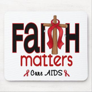 AIDS Faith Matters Cross 1 Mouse Mat