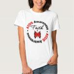 AIDS Faith Scripted Butterfly Tee Shirt