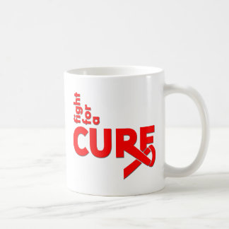 AIDS Fight For A Cure Basic White Mug