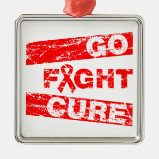 AIDS Go Fight Cure Christmas Ornament