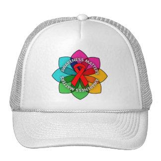 AIDS HIV Awareness Matters Petals Trucker Hat