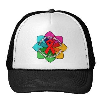 AIDS HIV Awareness Matters Petals Mesh Hat