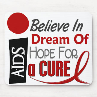 AIDS HIV BELIEVE DREAM HOPE MOUSE MATS