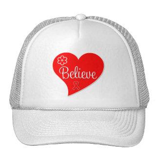 AIDS HIV Believe Red Heart Trucker Hat
