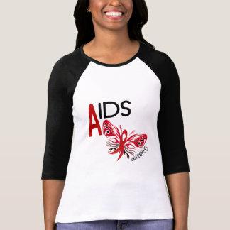 AIDS / HIV Butterfly 3 Awareness T-Shirt