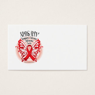 AIDS/HIV Butterfly 3 Business Card