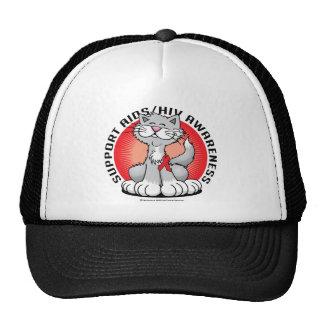 AIDS/HIV Cat Trucker Hats