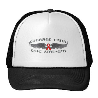 AIDS HIV Courage Faith Wings Cap