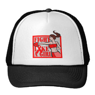 AIDS HIV Fight Like A Girl Boxer Mesh Hat