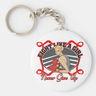 AIDS HIV Fight Like A Girl Boxer Key Chains