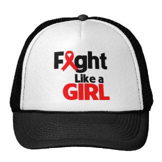 AIDS/HIV Fight Like a Girl Hats