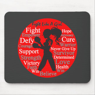 AIDS HIV Fight Like A Girl Collage Mouse Pad