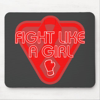 AIDS HIV Fight Like A Girl Glove Mouse Pad