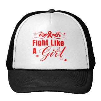AIDS HIV Fight Like A Girl Ornate Hat