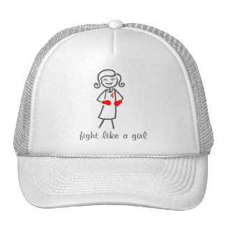 AIDS HIV Fight Like A Girl (Retro) Trucker Hat
