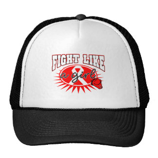 AIDS HIV Fight Like A Girl Sporty Callout Trucker Hat