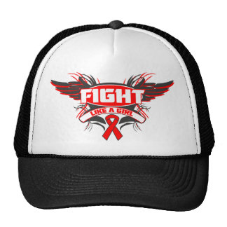 AIDS HIV Fight Like a Girl Wings.png Trucker Hat