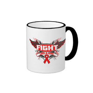AIDS HIV Fight Like a Girl Wings.png Ringer Mug