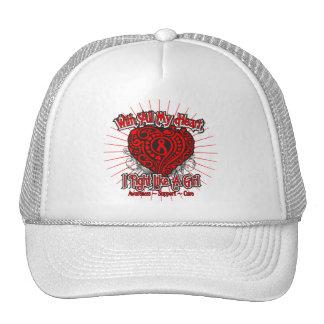 AIDS HIV Heart I Fight Like A Girl Cap