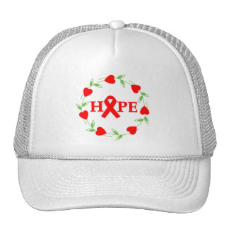 AIDS HIV Hearts of Hope Mesh Hat