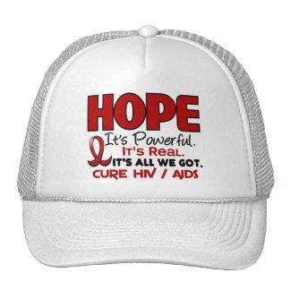 AIDS HIV HOPE 1 TRUCKER HAT