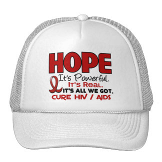 AIDS HIV HOPE 1 MESH HATS