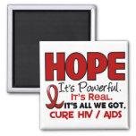 AIDS HIV HOPE 1 REFRIGERATOR MAGNET