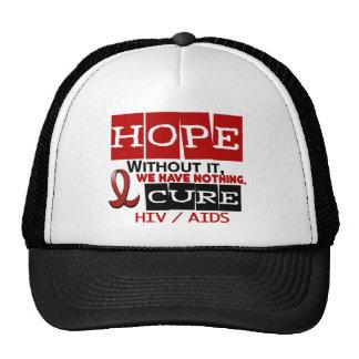AIDS HIV HOPE 2 MESH HATS