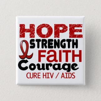 AIDS HIV HOPE 3 15 CM SQUARE BADGE