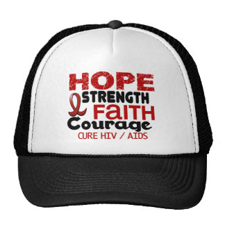 AIDS HIV HOPE 3 TRUCKER HAT