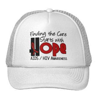 AIDS HIV HOPE 4 TRUCKER HAT