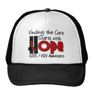 AIDS HIV HOPE 4 TRUCKER HATS