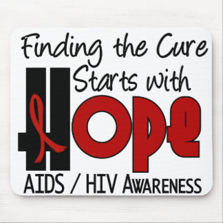 AIDS HIV HOPE 4 MOUSE MATS