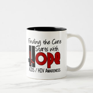 AIDS HIV HOPE 4 Two-Tone MUG