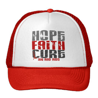 AIDS / HIV HOPE FAITH CURE TRUCKER HAT