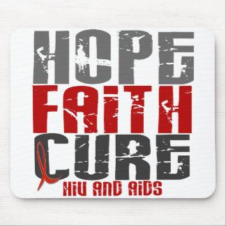 AIDS HIV HOPE FAITH CURE MOUSE MATS