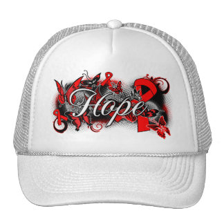 AIDS HIV Hope Garden Ribbon Cap