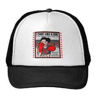 AIDS HIV I Fight Like A Girl Battle Trucker Hat