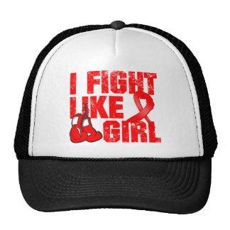 AIDS HIV I Fight Like A Girl (Grunge) Cap
