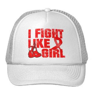 AIDS HIV I Fight Like A Girl (Grunge) Cap