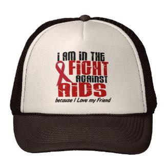 AIDS HIV In The Fight 1 Friend Trucker Hat