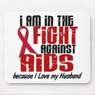 AIDS HIV In The Fight 1 Husband Mouse Pads
