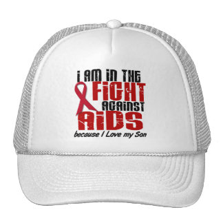 AIDS HIV In The Fight 1 Son Trucker Hat